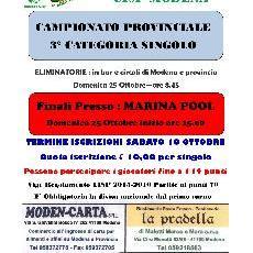PROVINCIALE TERZA CATEGORIA SINGOLO