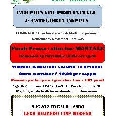 CAMPIONATO PROVINCIALE 2°CATEGORIA A COPPIE